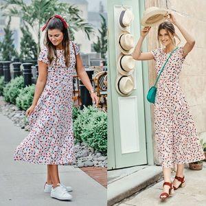 Boden Alda Jersey Midi Dress 12 Regular